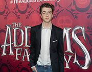 2019, December 01. Pathe ArenA, Amsterdam, the Netherlands. Roman Derwig at the dutch premiere of The Addams Family.