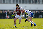 SFC at Trim, April 10th 2016.<br /> Navan O`Mahonys vs Moynalvey<br /> Donal Smith (Navan 0`Mahonys) & Cillian O`Sullivan (Moynalvey)<br /> Photo: David Mullen /www.cyberimages.net / 2016