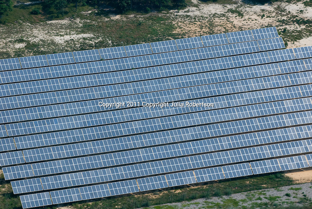 Aerial and Ground Views of Cooperstown, New York Aerial view of Solar panels in Vineland NJ