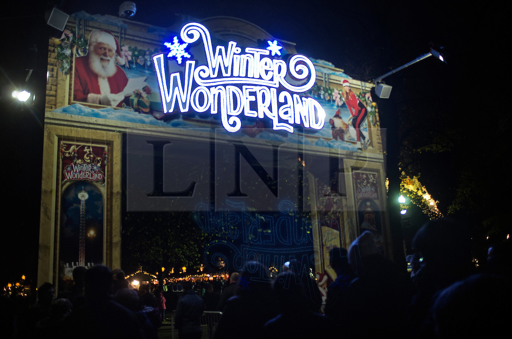© Licensed to London News Pictures. 22/12/2013. London, United Kingdom. Views odfthe amusement Christmas park in Hyde Park ' Winter  Wonderland '. PICTURES TAKEN ON: 24/11/2013.  Photo credit : Andrea Baldo/LNP