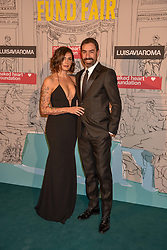 Robert Pires and Jessica Lemarie at the Fabulous Fund Fair in aid of Natalia Vodianova's Naked Heart Foundation in association with Luisaviaroma held at The Round House, Camden, London England. 18 February 2019.