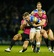Matt Parcell of Leeds Rhinos on the attack against Hull FC during the Betfred Super League match at Emerald Headingley Stadium, Leeds<br /> Picture by Stephen Gaunt/Focus Images Ltd +447904 833202<br /> 08/03/2018