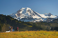 Hikers on Skyline Divide, Mount Baker Wilderness, North Cascades Washington