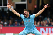 Wicket - Mark Wood of England successfully appeals for and lbw against Ross Taylor of New Zealand during the ICC Cricket World Cup 2019 Final match between New Zealand and England at Lord's Cricket Ground, St John's Wood, United Kingdom on 14 July 2019.