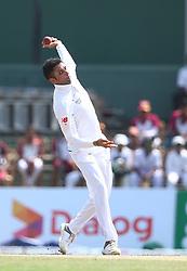 July 22, 2018 - Sri Lanka - South Africa's Keshav Maharaj  bowls during the third day of the second Test match between Sri Lanka and South Africa at the Sinhalese Sports Club (SSC) international cricket stadium in Colombo,Sri Lanka  on July 22, 2018. (Credit Image: © Pradeep Dambarage/Pacific Press via ZUMA Wire)
