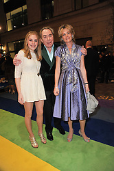 ANDREW & MADELEINE LLOYD WEBBER with their daughter ISABELLA  arrive at the press night of the new Andrew Lloyd Webber  musical 'The Wizard of Oz' at The London Palladium, Argylle Street, London on 1st March 2011 followed by an aftershow party at One Marylebone, London NW1