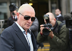 © Licensed to London News Pictures. 29/10/2015. Bournemouth, UK. Paul Gascoigne leaves Bournemouth Magistrates Court after being fined and receiving a restraining  order after earlier pleading guilty to harassment and assault charges. Photo credit: Peter Macdiarmid/LNP