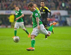 08.02.2014, Weserstadion, Bremen, GER, 1. FBL, SV Werder Bremen vs Borussia Dortmund, 20. Runde, im Bild Ludovic Obraniak (SV Werder Bremen #7) am Ball // Ludovic Obraniak (SV Werder Bremen #7) am Ball during the German Bundesliga 20th round match between SV Werder Bremen and Borussia Dortmund at the Weserstadion in Bremen, Germany on 2014/02/08. EXPA Pictures &copy; 2014, PhotoCredit: EXPA/ Andreas Gumz<br /> <br /> *****ATTENTION - OUT of GER*****