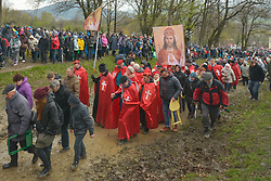 April 14, 2017 - Kalwaria Zebrzydowska, Poland - Suspended Fr. Piotr Natanek  (Credit Image: © Artur Widak/NurPhoto via ZUMA Press)