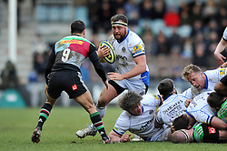 Tom Dunn of Bath Rugby in possession - Photo mandatory by-line: Patrick Khachfe/JMP - Mobile: 07966 386802 31/01/2015 - SPORT - RUGBY UNION - London - The Twickenham Stoop - Harlequins v Bath Rugby - LV= Cup