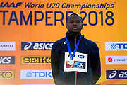 Martin Lamou (FRA) win the Silver Medal in Triple Jump Men during the IAAF World U20 Championships 2018 at Tampere in Finland, Day 5, on July 14, 2018 - Photo Julien Crosnier / KMSP / ProSportsImages / DPPI