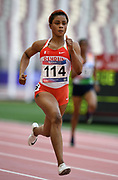 Takatoshi Abe (JPN) places fifth in the 400m hurdles 49.74 during the Asian Athletics Championships in Doha, Qatar, Saturday, April,21, 2019. (Jiro Mochizuki/Image of Sport)