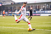 Crawley Town forward James Collins (19) during the EFL Sky Bet League 2 match between Luton Town and Crawley Town at Kenilworth Road, Luton, England on 11 February 2017. Photo by Sebastian Frej.