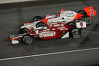 Scott Dixon, Helio Castroneves, Peak Antifreeze and Motor Oil Indy 300, Chicagoland Speedway, Joliet, IL USA