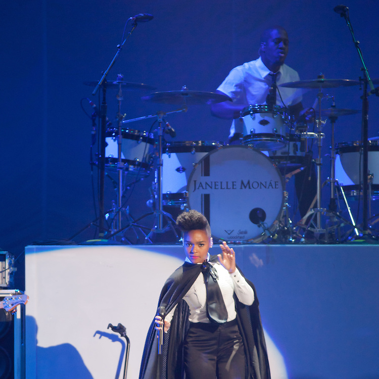 Janelle Monae performs at The Bill Graham Civic Auditoium - 6/8/11