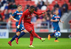 ST HELENS, ENGLAND - Wednesday, October 24, 2018: Liverpool's Rafael Camacho during the UEFA Youth League Group C match between Liverpool FC and FK Crvena zvezda at Langtree Park. (Pic by David Rawcliffe/Propaganda)