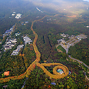 NANJING, CHINA - NOVEMBER 06: (CHINA OUT) <br /> <br /> A bird view of the Dr. Sun Yat-sens Mausoleum is seen on November 6, 2015 in Nanjing, Jiangsu Province of China. The palace was built in 1932 as a weekend retreat for Chiang Kai-shek and his wife Song Meiling. The area is designed in the shape of a necklace, with the house sitting as the central pendant.<br /> ©Exclusivepix Media