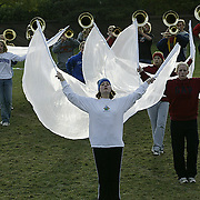 "Rehearsing for the season at ""summer camp"", band members put in long hours of practice, just as sports teams do at MOC Floyd Valley High School in Orange City, Iowa."