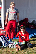 New York, New York - Cornell runners get ready to compete in the Ivy League Heptagonal women's<br />