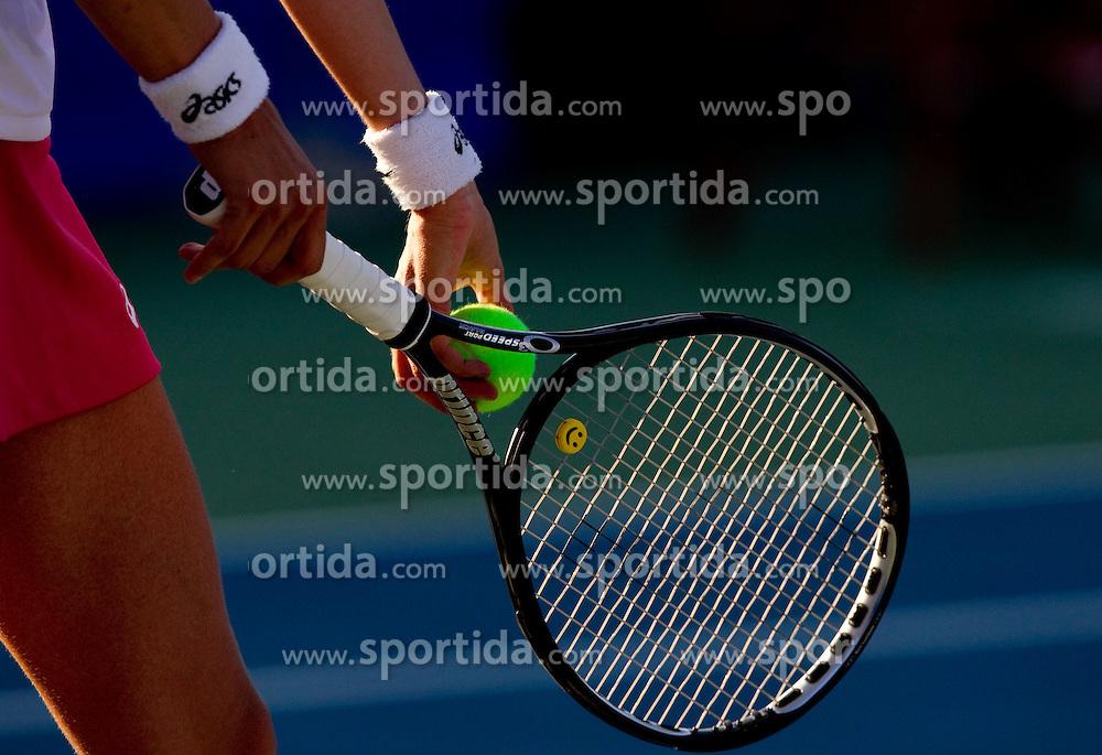 Racket at Banka Koper Slovenia Open WTA Tour tennis tournament, on July 21, 2010 in Portoroz / Portorose, Slovenia. (Photo by Vid Ponikvar / Sportida)
