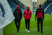 Sheffield United players checking pitch before the EFL Sky Bet Championship match between Preston North End and Sheffield Utd at Deepdale, Preston, England on 16 December 2017. Photo by Michał Karpiczenko.