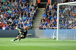 Leicester City's Kasper Schmeichel fails to save the goal from Manchester United's Ander Herrera - Photo mandatory by-line: Dougie Allward/JMP - Mobile: 07966 386802 - 21/09/2014 - SPORT - FOOTBALL - Leicester - King Power Stadium - Leicester City v Manchester United - Barclays Premier League