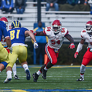 Stony Brook linebacker HUMPHREY ANUH (54) move pass the linemen during a week eight game between the Delaware Blue Hens and the Stony Brook Seawolves, Saturday, Oct. 22, 2016 at Tubby Raymond Field at Delaware Stadium in Newark, DE.