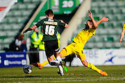 Plymouth Argyle's Ben Purrington and Oxford Utd's Liam Sercombe during the Sky Bet League 2 match between Plymouth Argyle and Oxford United at Home Park, Plymouth, England on 5 March 2016. Photo by Graham Hunt.