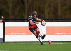 Elinor Snowsill of Bristol Bears Women kicks a conversion - Mandatory by-line: Paul Knight/JMP - 01/12/2018 - RUGBY - Shaftesbury Park - Bristol, England - Bristol Bears Women v Harlequins Ladies - Tyrrells Premier 15s