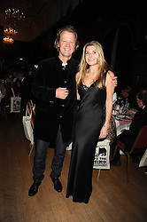 ROBERT DEVEREUX and LOUISE GALVIN at a dinner in aid of the charity 'Save The Rhino' at The Porchester Hall, Porchester Road, London W2 on 13th November 2008.