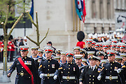 A commemoration in London to mark the Centenary of the Gallipoli Campaign 25 April 2015 at the Cenotaph on Whitehall, Westminster. Descendants of those who fought in the campaign also march past, led by military personnel, as part of the ceremony. This is an addition to the usual annual ceremony organized byvThe High Commissions of Australia and New Zealand.Guy Bell, 07771 786236, guy@gbphotos.com