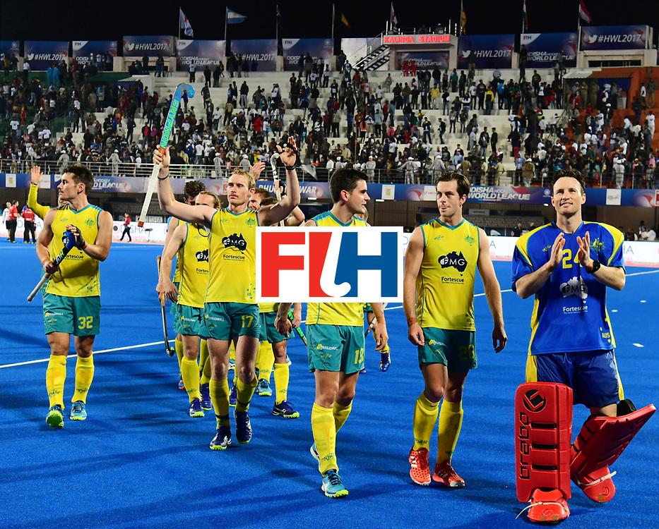 Odisha Men's Hockey World League Final Bhubaneswar 2017<br /> Match id:20<br /> Australia v Germany<br /> Foto: Australia wins the Semi Final against Germany.<br /> COPYRIGHT WORLDSPORTPICS FRANK UIJLENBROEK
