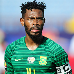 Thulani Hlatshwayo (captain) of South Africa during the 2019 Africa Cup of Nations Finals game between Ivory Coast and South Africa at Al Salam Stadium in Cairo, Egypt on 24 June 2019  <br /> Photo : Icon Sport