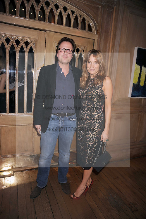WILLIAM TURNER and his wife EMILY OPPENHEIMER-TURNER at a party to celebrate the launch of Hollywood Domino - a brand new board game, held at Mosimann's 11b West Halkin Street, London on 7th November 2008.  The evening was in aid of Charlize Theron's Africa Outreach Project.