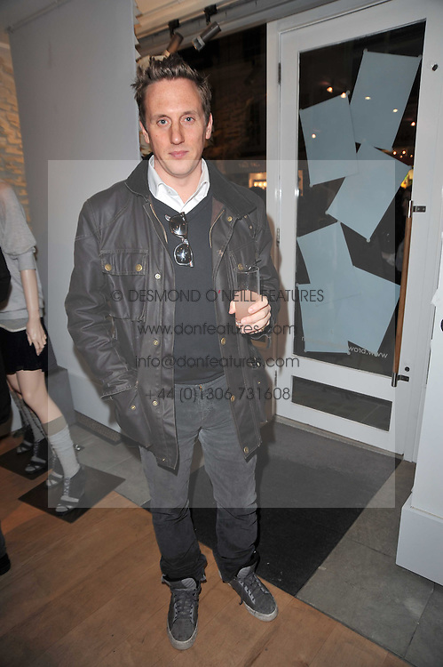 HARRY BEECHER at the launch party for Club Monaco at Browns, 32 South Molton Street, London on 16th February 2011.