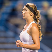August 23, 2016, New Haven, Connecticut: <br /> Elina Svitolina of Ukraine reacts after a victory during Day 5 of the 2016 Connecticut Open at the Yale University Tennis Center on Tuesday, August  23, 2016 in New Haven, Connecticut. <br /> (Photo by Billie Weiss/Connecticut Open)