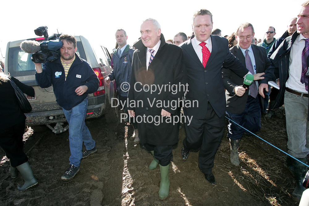 29/9/2006.The Taoiseach Bertie Aherne pictured at the World Ploughing Championships in Carlow yesterday..Picture Dylan Vaughan.