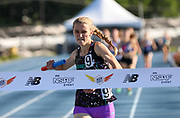 Kelsey Chmiel of Kinetic TC-New York ran the anchor lap as they won the Girls 4x Mile Relay Championship in a time of 20:31.67 during the New Balance Outdoor Nationals, Sunday, June 16, 2019, in Greensboro, NC. (Brian Villanueva/Image of Sport)