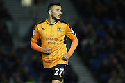 Wolverhampton Wanderers midfielder Romain Saiss (27)  during the EFL Sky Bet Championship match between Brighton and Hove Albion and Wolverhampton Wanderers at the American Express Community Stadium, Brighton and Hove, England on 18 October 2016. Photo by Bennett Dean.