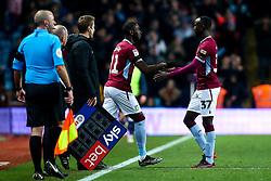 Albert Adomah of Aston Villa is replaced by Yannick Bolasie of Aston Villa - Mandatory by-line: Robbie Stephenson/JMP - 02/11/2018 - FOOTBALL - Villa Park - Birmingham, England - Aston Villa v Bolton Wanderers - Sky Bet Championship