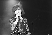 Souxsie Sioux performing, live, UK, 1980s.