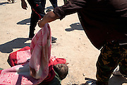 The body of a Qaddafi soldier on the roed from Zawiya to Tripoli.