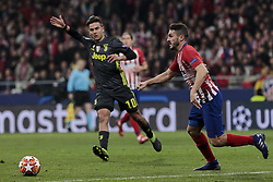 February 20, 2019 - Madrid, Madrid, Spain - Atletico de Madrid's Koke Resurreccion and Juventus' Paulo Dybala during UEFA Champions League match, Round of 16, 1st leg between Atletico de Madrid and Juventus at Wanda Metropolitano Stadium in Madrid, Spain. February 20, 2019. (Credit Image: © A. Ware/NurPhoto via ZUMA Press)