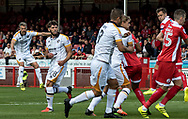 Michael Tonge of Port Vale scores from a free kick during the Sky Bet League 2 match at  Checkatrade.com Stadium, Crawley<br /> Picture by Liam McAvoy/Focus Images Ltd 07413 543156<br /> 05/08/2017