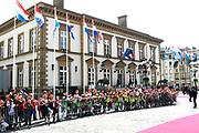 Staatsbezoek aan Luxemburg dag 1 / State visit to Luxembourg day 1<br /> <br /> Op de foto / On the photo: Ontvangst burgemeester Luxemburg in de Cercle Cité  / Reception mayor Luxembourg in the Cercle Cité