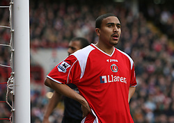 London, England - Saturday, February 24, 2007: Charlton Athletic''s Jerome Thomas in action against West Ham United during the Premiership match at the Valley. (Pic by Chris Ratcliffe/Propaganda)