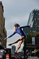 Meat Packing District Whitney Museum New York City Dance As Art Photography Project featuring dancer Kevin Mimnms