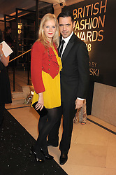 SAVANNAH MILLER and ROLAND MOURET at the 2008 British Fashion Awards held at the Lawrence Hall, Westminster, London on 25th November 2008.