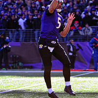15 January 2012: Baltimore Ravens quarterback Joe Flacco (5) in action against the Houston Texans in the Divisional Playoff at M&T Bank Stadium in Baltimore, MD. The Ravens defeated the Texans 20-13 to advance to the AFC Championship game..