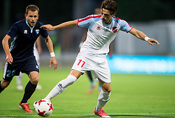 Dejan Zigon of Gorica vs Lazaros Lamprou of Panionios GSS during 2nd Leg football match between ND Gorica (SLO) and Panionios GSS (GRE) in 2nd Qualifying Round of UEFA Europa League 2017/18, on July 20, 2017 in Nova Gorica, Slovenia. Photo by Vid Ponikvar / Sportida